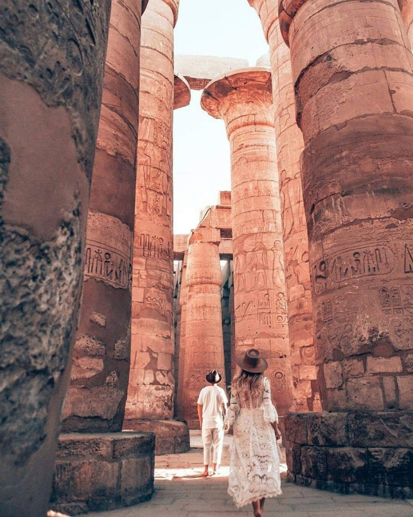 معبد الكرنك الأقصر اكبر معابد العالم