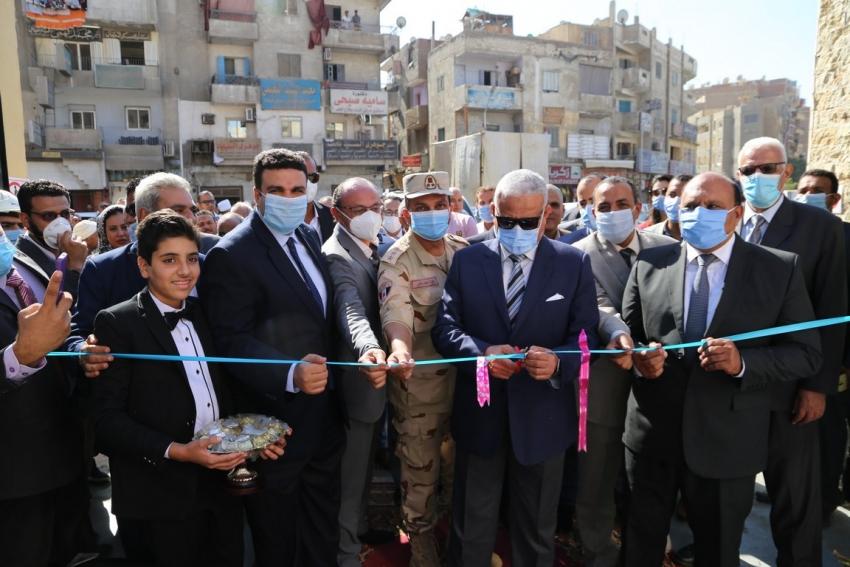 افتتاح مركز خدمة العملاء ومحطتي صرف صحي بمحافظة السويس