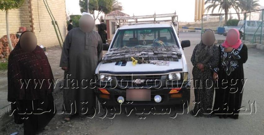 ضبط 4 أشخاص قبل عبورهم نفق الشهيد أحمد حمدى وبحوزتهم 923 طربة لمخدر الحشيش و2 كيلو جرام لمخدر الأفيون بقصد الإتجار