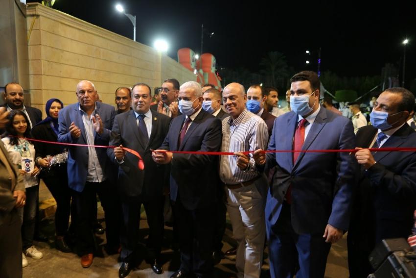بالصور: صقر يفتتح المقر الجديد لنادى منتخب السويس في احتفالات العيد القومي للمحافظة
