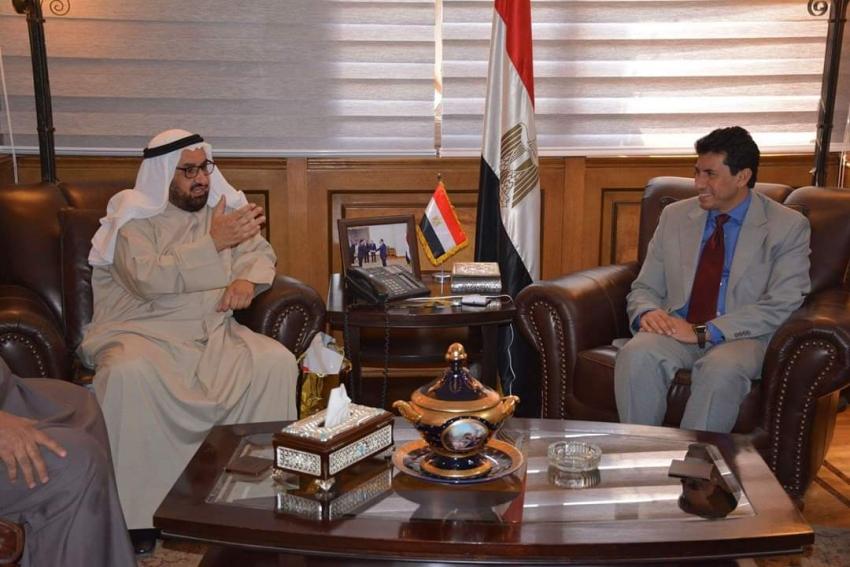 وزير الشباب والرياضة يلتقي رئيس الاتحاد العربي للهجن