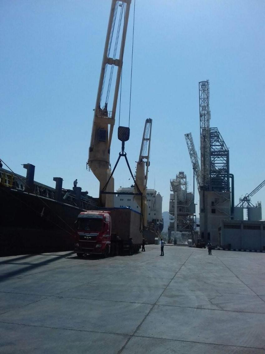 تداول 8110 طن بضائع عامة ومتنوعة بموانئ البحر الاحمر