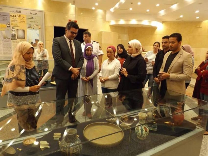 صور...افتتاح معرض كنوز اسلاميه ( البيت الإسلامي ) بمتحف السويس