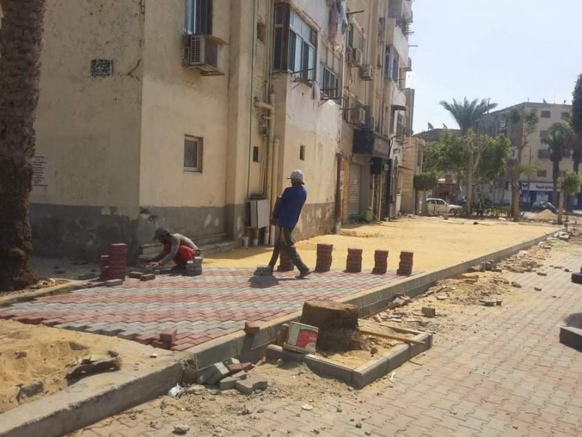 تنفيذا لتوجيهات السيد اللواء/ عبد المجيد صقر متابعة الخدمات والمشروعات التنموية التى تقام على أرض السويس