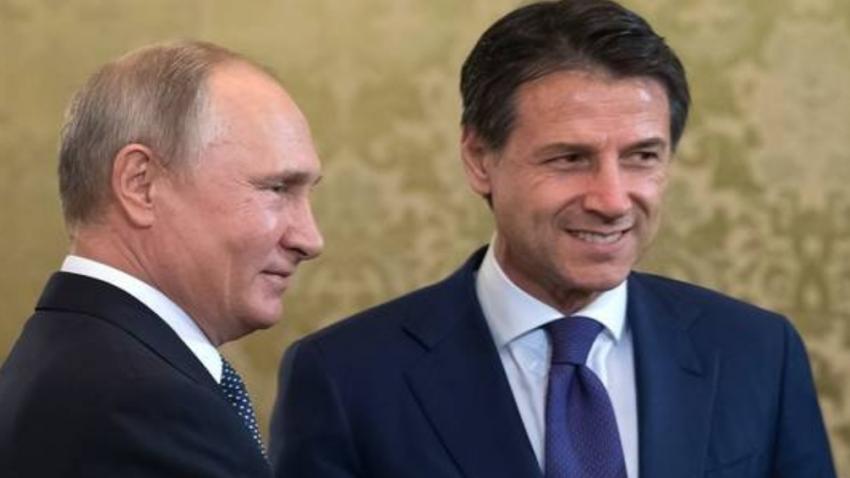 كونتى : سنستقبل بوتين بنفس الحفاوة التى إستقبلنى بها