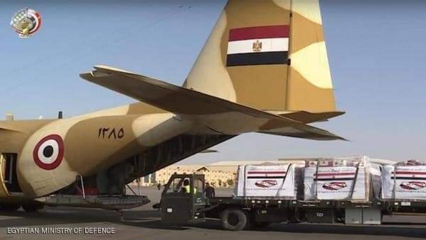 السيسي يوجه بفتح جسر جوى لإرسال مساعدات عاجلة للبنان