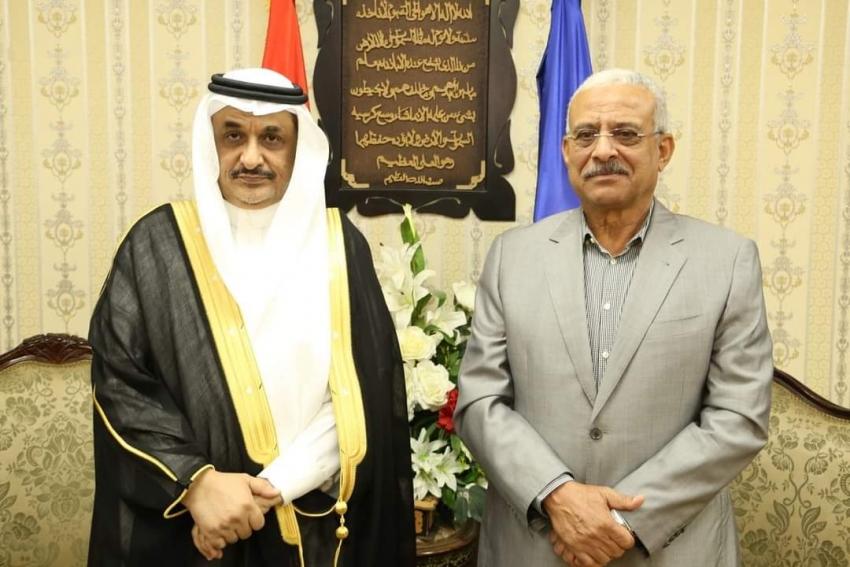 محافظ السويس يستقبل القنصل العام للمملكة العربية السعودية