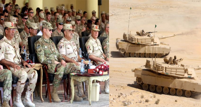 اختتام فاعليات التدريب المشترك (النجم الساطع 2018) تنفيذ مشروع رماية بالذخيرة الحية لجميع القوات المشاركة