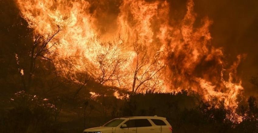 مقتل خمسة أشخاص داخل سياراتهم أثناء محاولتهم الفرار من حرائق الغابات في كاليفورنيا