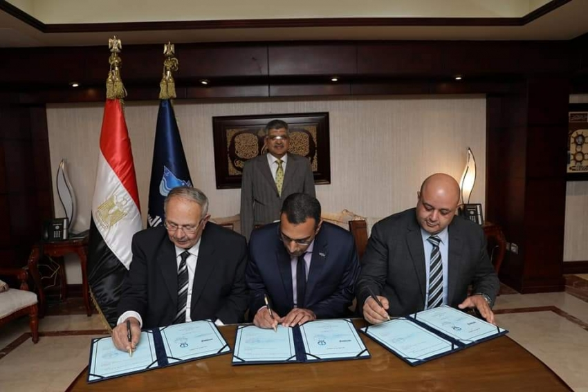 الفريق أسامة ربيع يشهد توقيع اتفاقية المساهمين لتأسيس شركة مساهمة مصرية للصناعات الغذائية