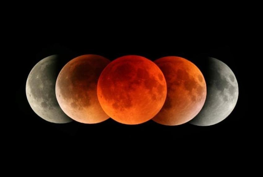 خسوف كلي للقمر يستمر 63 دقيقة