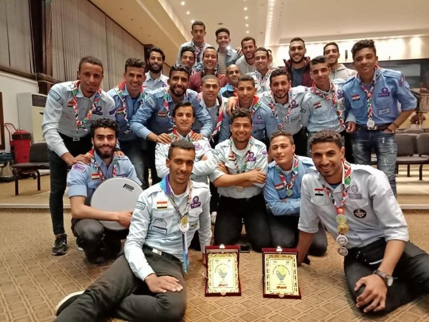 جامعة السويس تحصد المستوى الأول في المهرجان الكشفي السابع للكشافة الجوية العربية والمصرية