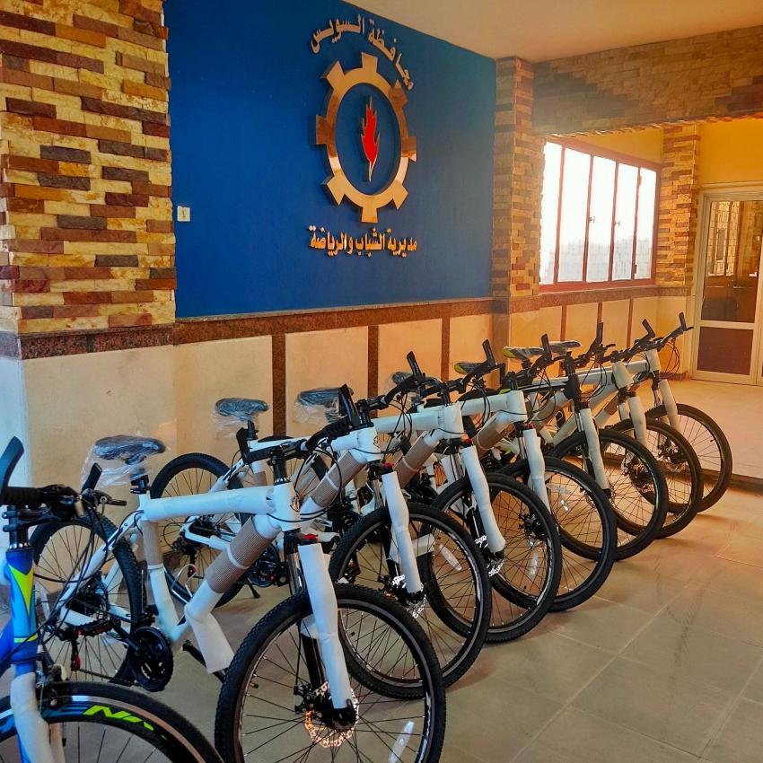 """غدا ..تسليم دراجات المرحلة الثالثة من مبادرة """" دراجتك - صحتك """" بمحافظة السويس"""