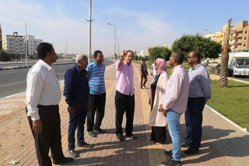 السكرتيرالعام للمحافظة يتفقد مركزالسويس الاستكشافي وتطوير حدائق الكورنيش القديم وازدواج طريق الخدمة بحي فيصل