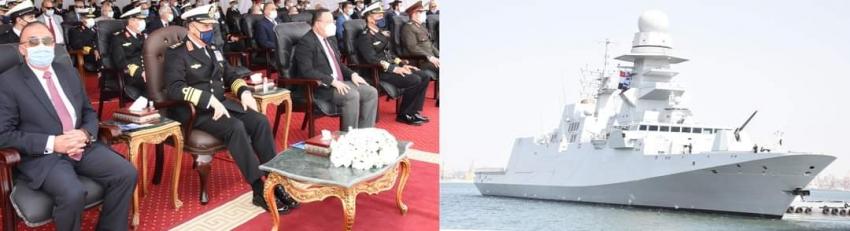 """وصول الفرقاطة """"برنيس"""" من طراز (فریم بيرجامینى) إلى قاعدة الإسكندرية وانضمامها للقوات البحرية"""