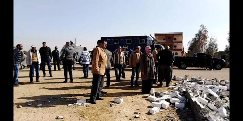 تنفيذ 12 قراراً لإزالة تعديات علي 17فدان أرض زراعية بقري شباب الخريجين بحي فيصل بالسويس
