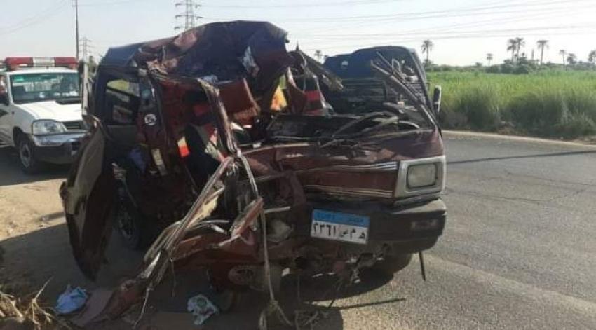 إصابة 5 في حادث مروع بنجع حمادي