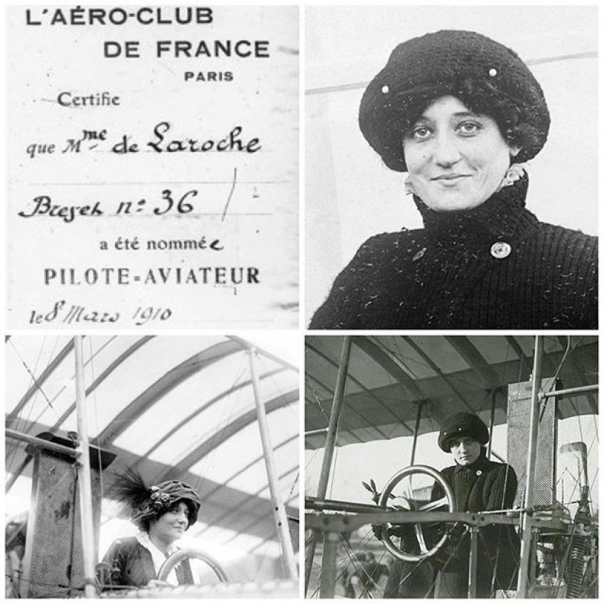 """حدث فى مثل هذا اليوم """" أول امرأة تحصل على رخصة طيار"""""""
