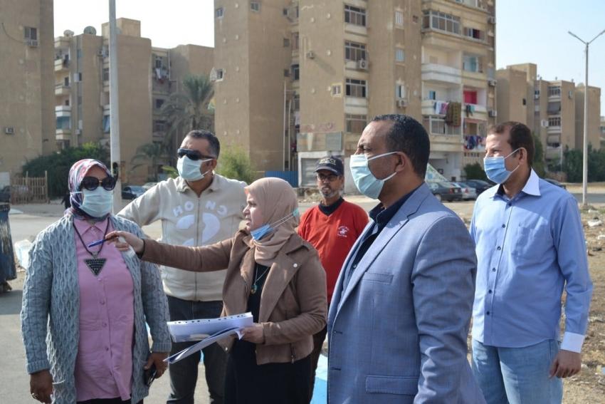 السكرتير العام يتابع خطة الصيانة للمعدات بحي فيصل وتكثيف اعمال النظافة بشوارع السويس