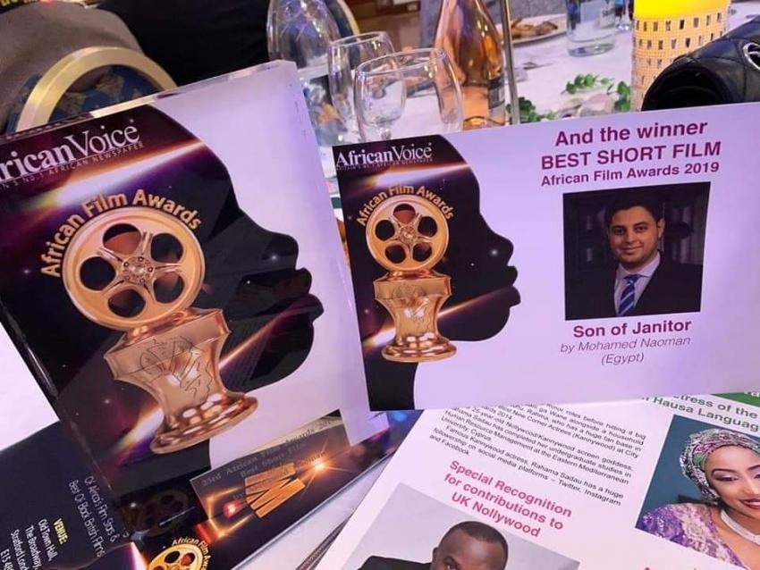 ابن السويس محمد نعمان يفوز بجائزة أفضل مخرج لفيلم افريقي عالميا بلندن