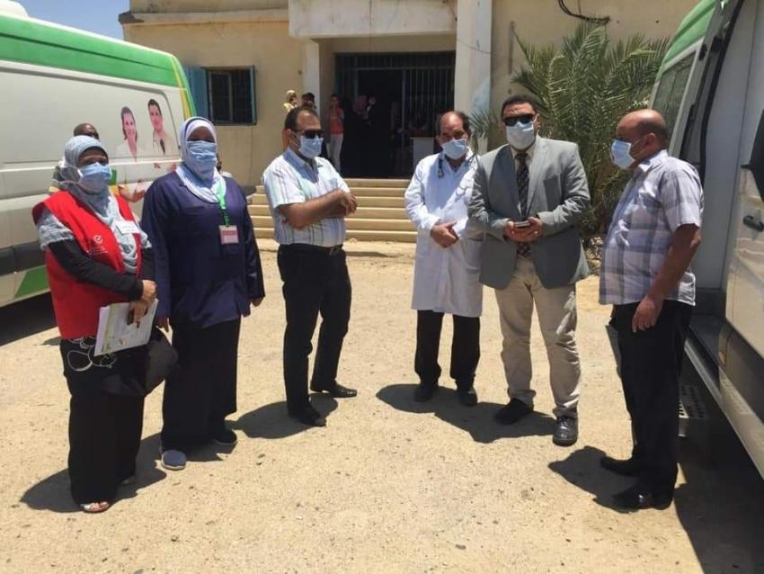 انطلاق فعاليات المبادرة الرئاسية «100 مليون صحة» للكشف على أصحاب الأمراض المزمنة بمراكز السويس الخمسة