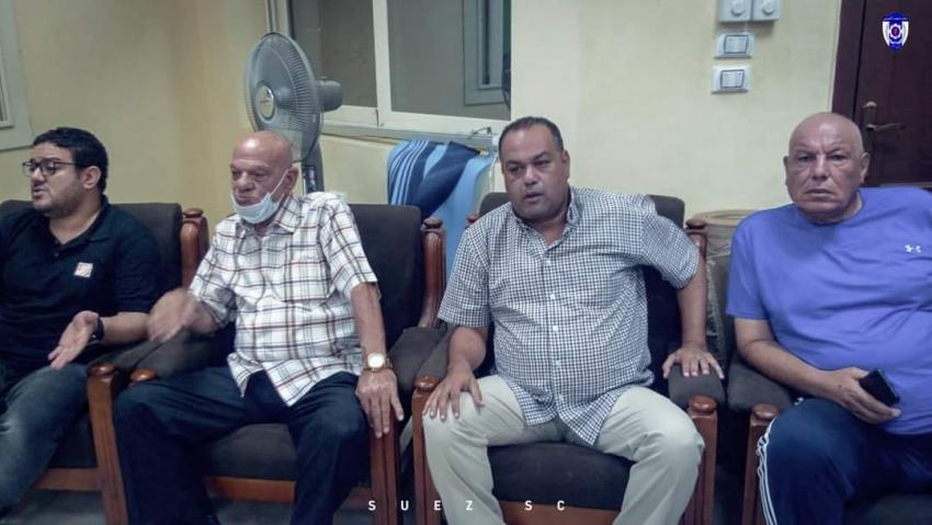 مجلس إدارة منتخب السويس يحفز لاعبيه قبل الداخلية