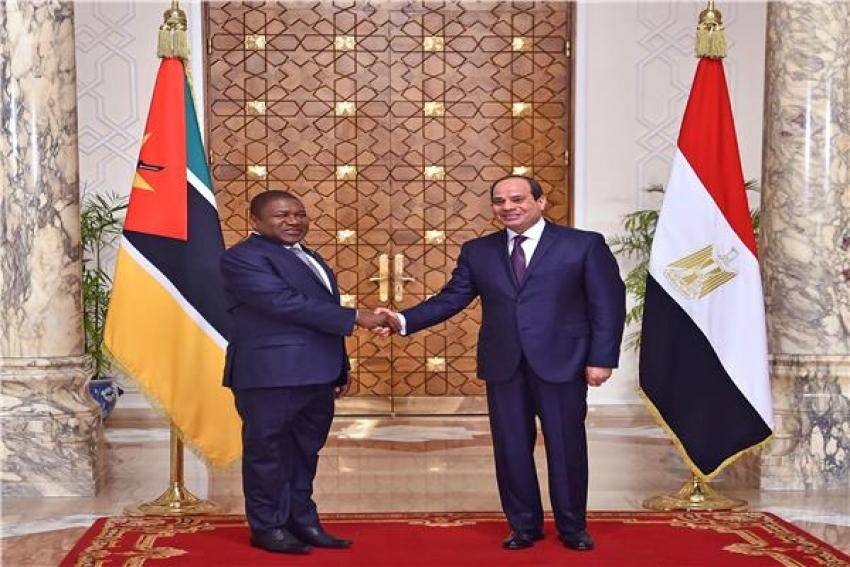 مراسم استقبال السيسى لـ رئيس موزمبيق فى قصر الاتحادية اليوم