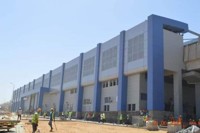 أعمال تنفيذ محطة عدلي منصور التبادلية المركزية.