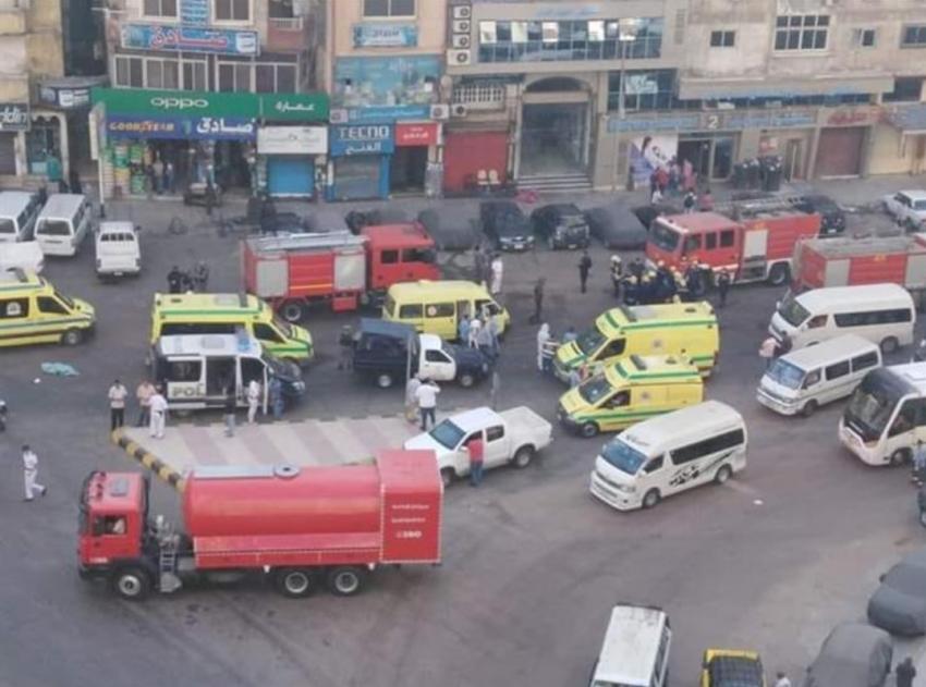 مصرع ٧ مرضى كورونا واصابة ٧ من طاقم المستشفى في حريق بالعناية المركزة بالاسكندرية
