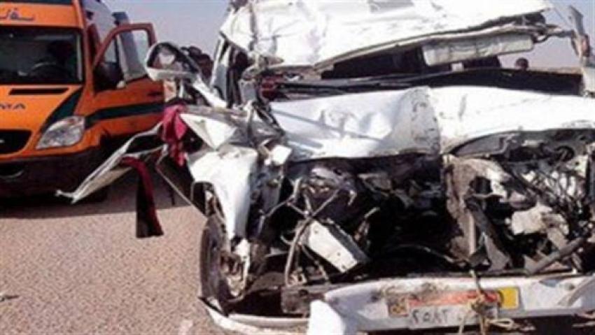 مصرع طفلة وإصابة 12 فى حادث تصادم ميكروباص بسيارة نقل فى الدقهلية