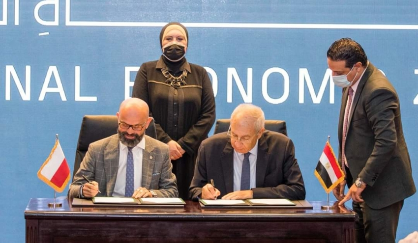 وزيرة التجارة والصناعة تشهد توقيع اتفاقية بين اقتصادية قناة السويس ومنطقة كاتوفيتسا البولندية لإنشاء منطقة صناعية بولندية بالسخنة