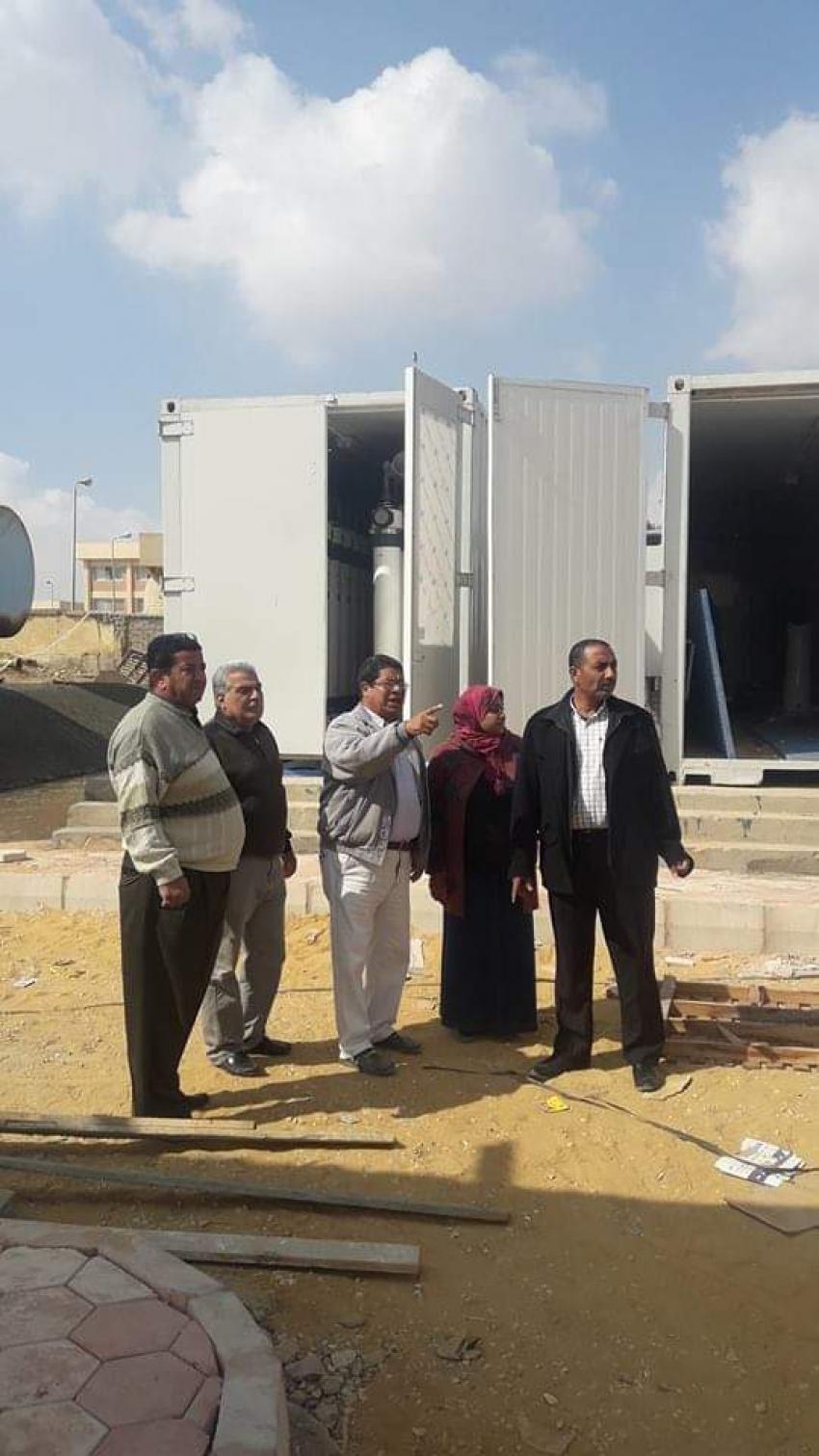 متابعة أعمال التطوير بمحطة مياه ابوعارف بالسويس