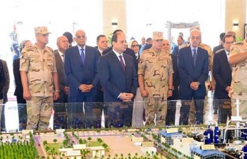 الرئيس يفتتح عدد من المشروعات القومية بنطاق محافظتي جنوب سيناء والسويس