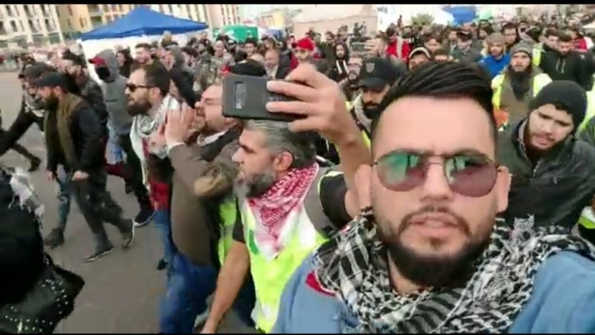 إشباكات بين قوات الامن اللبنانى والمتظاهرين