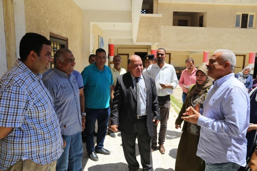 تنفيذا لقرارمحافظ السويس..البدء في صيانة مدرسة صلاح نسيم للتعليم الاساسي