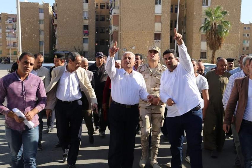 المحافظ يتفقد 3 مشروعات جديدة بنطاق حي فيصل بالسويس