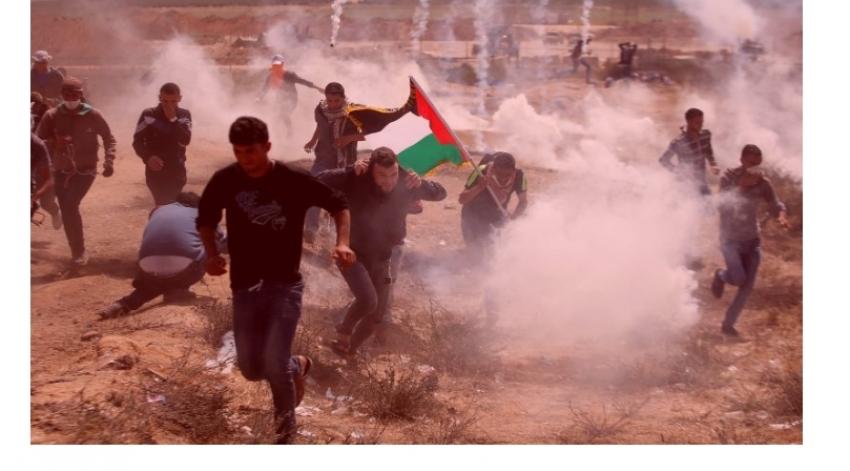 إصابة خمسة من الفلسطينيين برصاص الاحتلال خلال مسيرات العودة