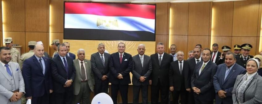 صقر يقيم احتفالية لتكريم مدير امن السويس السابق ونائبه تقديرا لجهودهما