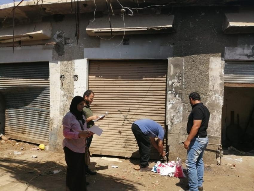 اغلاق 45 محلا بسوق الانصاري في حملة لتحصيل مستحقات الدولة بحي السويس