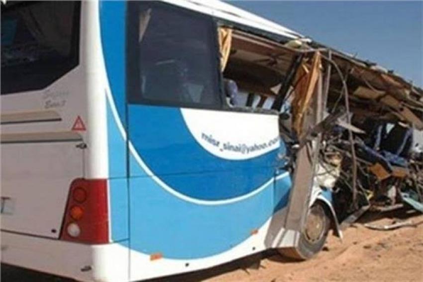 إصابة العشرات في تصادم أتوبيسين تابعين لدير ببرج العرب