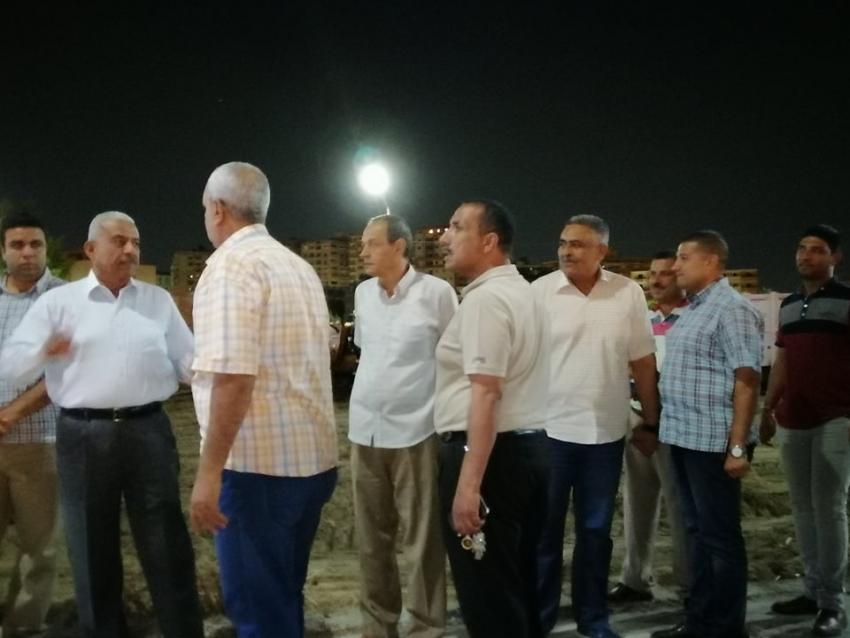 محافظ السويس يقوم بجولة بشارع المحروسة وميدان شوشة لتطويره