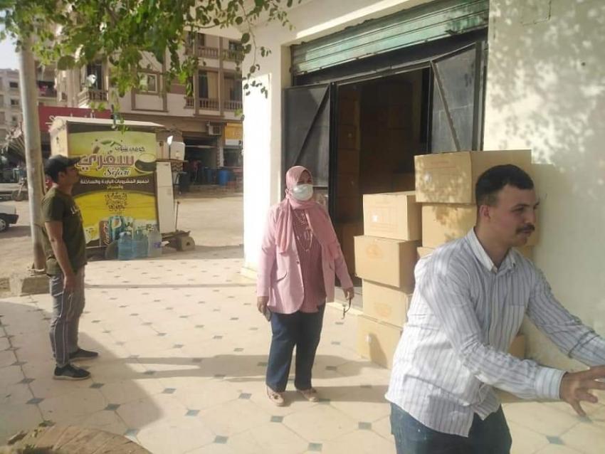 حملة غلق وتشميع عدد من المحلات التجارية المخالفه بمدينة السلام ١ بحى فيصل