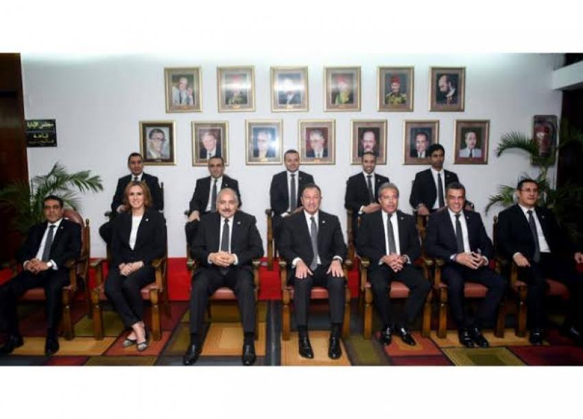 الخطيب وضيوفه في افتتاح أكبر مطاعم الأندية المصرية بـ أهلي مدينة نصر