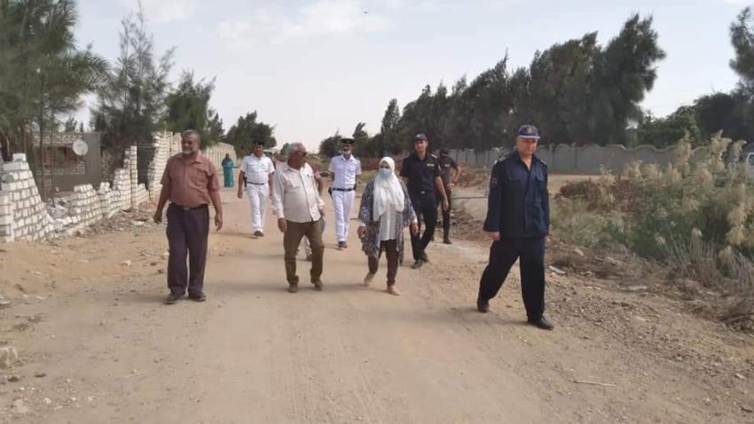 تنفيذ 26قرارا لازالة تعديات على الاراضى الزراعيه بقرى شباب الخريجين بنطاق حي فيصل
