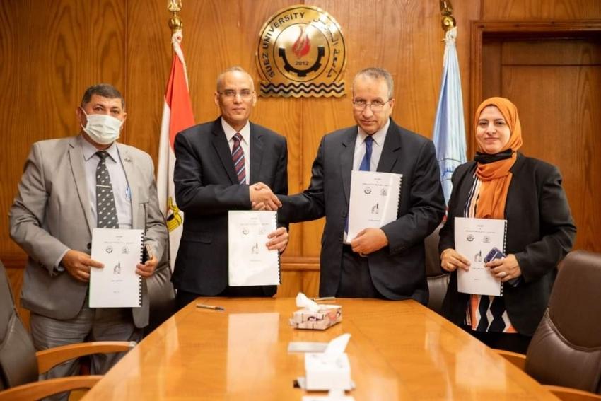 توقيع بروتوكول تعاون بين كلية هندسة البترول والتعدين بالسويس و المركز القومي للبحوث