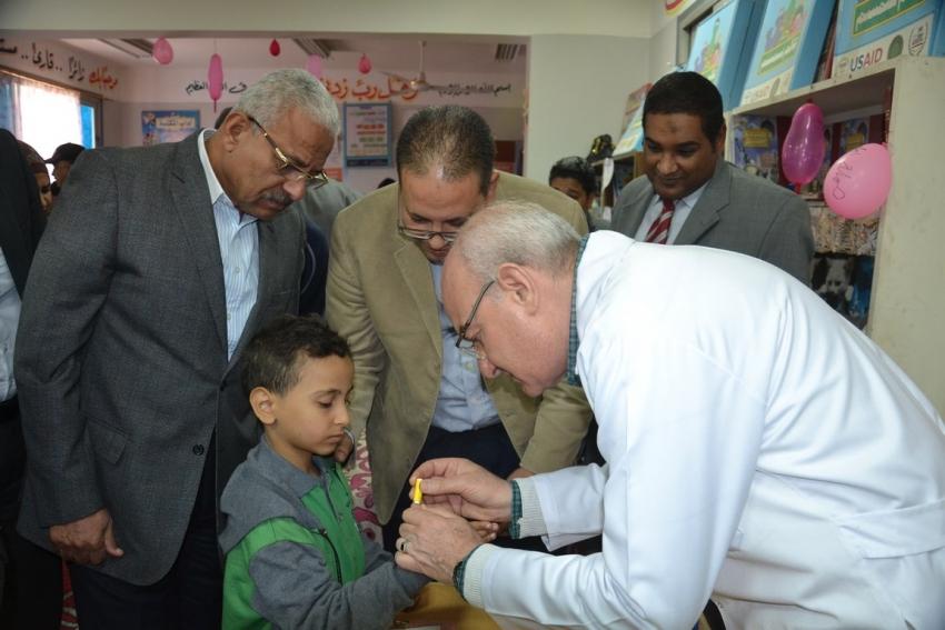 صور..بدء مبادرة اطفال اليوم قادة الغد بالسويس بالتوازي مع حملة ١٠٠ مليون صحة