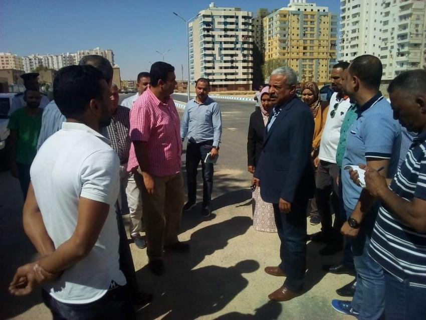 محافظ السويس :    مخطط لحديقة عامة واستكمال تطوير منطقة السحاب بحي فيصل