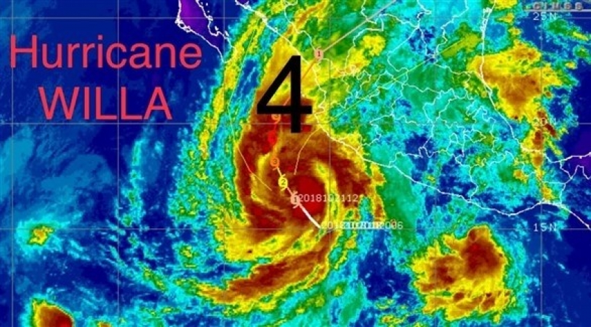 """اعصار """" ويلا """" يقترب بشدة نحو المكسيك"""