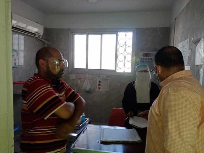 في ثاني ايام عيد الفطر المبارك الحفناوى يتفقد مستشفى الحميات وطوارئ الباطنه