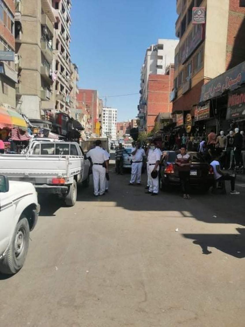حملة مكبرة لحي الاربعين ومباحث المرافق لرفع الاشغالات